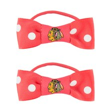 NHL Bow Pigtail Holder (Set of 2)