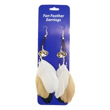 NCAA Fan Feather Earrings