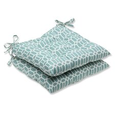 <strong>Pillow Perfect</strong> Rhodes Wrought Iron Seat Cushion (Set of 2)