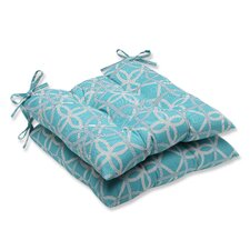<strong>Pillow Perfect</strong> Keene Wrought Iron Seat Cushion (Set of 2)
