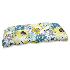 Floral Fantasy Wicker Loveseat Cushion