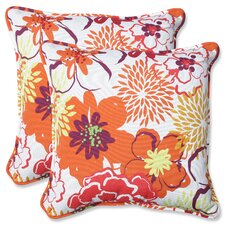 Floral Fantasy Throw Pillow (Set of 2)