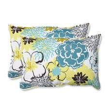 <strong>Pillow Perfect</strong> Floral Fantasy Rectangular Throw Pillow (Set of 2)
