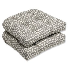 Seeing Spots Wicker Seat Cushion (Set of 2)