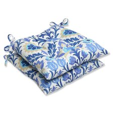 <strong>Pillow Perfect</strong> Santa Maria Wrought Iron Seat Cushion (Set of 2)