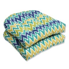 <strong>Pillow Perfect</strong> Zulu Wicker Seat Cushion (Set of 2)
