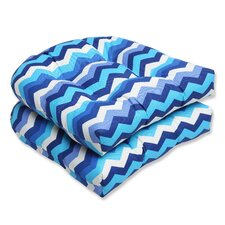 Panama Wave Wicker Seat Cushion (Set of 2)