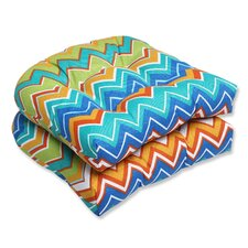 Zig Zag Wicker Seat Cushion (Set of 2)