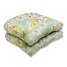 <strong>Pillow Perfect</strong> Sugar Beach Wicker Seat Cushion (Set of 2)