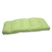 Seeing Spots Wicker Loveseat Cushion
