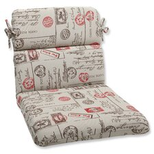 <strong>Pillow Perfect</strong> Carte Postale Corners Chair Cushion
