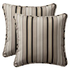<strong>Pillow Perfect</strong> Decorative Square Toss Pillow (Set of 2)