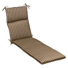 <strong>Pillow Perfect</strong> Outdoor Sunbrella Fabric Chaise Lounge Cushion