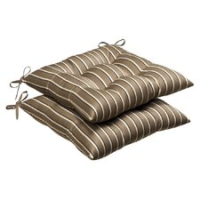 Outdoor Sunbrella Fabric Tufted Seat Cushion (Set of 2)