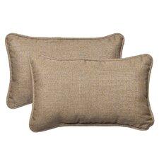 Outdoor Rectangle Sunbrella Fabric Toss Pillow (Set of 2)