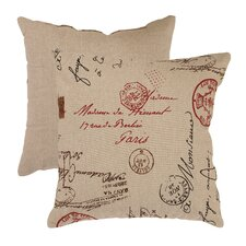 <strong>Pillow Perfect</strong> French Postale Throw Pillow