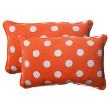 <strong>Pillow Perfect</strong> Polka Dot Corded Throw Pillow (Set of 2)
