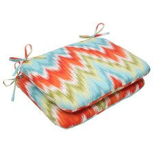 <strong>Pillow Perfect</strong> Flamestitch Seat Cushion (Set of 2)