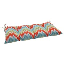 <strong>Pillow Perfect</strong> Flamestitch Tufted Loveseat Cushion