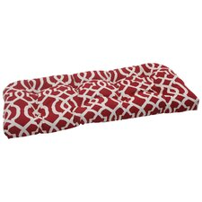 New Geo Wicker Loveseat Cushion