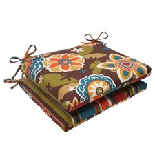 <strong>Pillow Perfect</strong> Annie/Westport Reversible Seat Cushion (Set of 2)