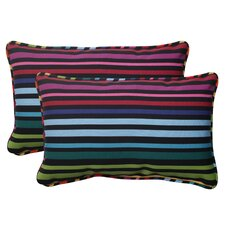 <strong>Pillow Perfect</strong> Godivan Corded Throw Pillow (Set of 2)