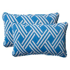 <strong>Pillow Perfect</strong> Carib Corded Throw Pillow (Set of 2)