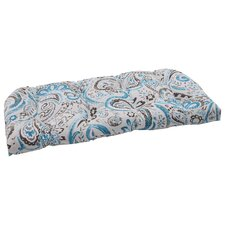 <strong>Pillow Perfect</strong> Paisley Wicker Loveseat Cushion