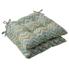 Cosmo Chevron Tufted Seat Cushion (Set of 2)
