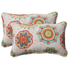 <strong>Pillow Perfect</strong> Fairington Corded Throw Pillow (Set of 2)