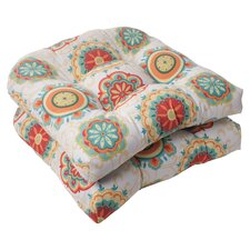 <strong>Pillow Perfect</strong> Fairington Wicker Seat Cushion (Set of 2)