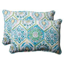 <strong>Pillow Perfect</strong> Summer Breeze Corded Throw Pillow (Set of 2)