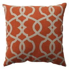Lattice Damask Cotton Pillow