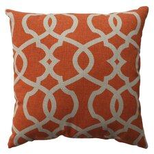 Lattice Damask Throw Pillow