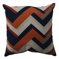 <strong>Pillow Perfect</strong> Concorde Chevron Cotton Pillow