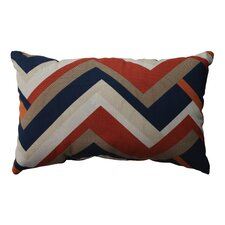 <strong>Pillow Perfect</strong> Concorde Chevron Cotton Throw Pillow