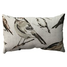 Bird Watcher Cotton / Poly Throw Pillow