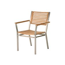 Equinox Teak Dining Arm Chair with Cushion