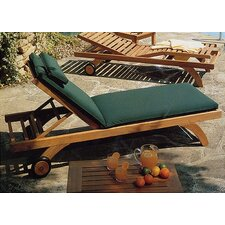 <strong>Barlow Tyrie Teak</strong> Capri Lounger with Wheels