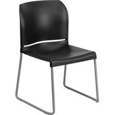 Hercules Series Full Back Contoured Stack Chair with Sled Base