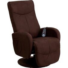 Massaging Microfiber Recliner with Microfiber Wrapped Base