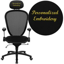 Personalized High-Back Professional Super Mesh Chair with Accents