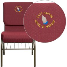 "Hercules Series 18.5"" Personalized Church Chair with Book Rack"
