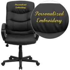 Personalized Mid-Back Leather Office Chair