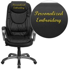 Personalized High-Back Leather Executive Swivel Office Chair