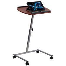 Angle and Adjustable Height Mobile Laptop Computer Table with Top