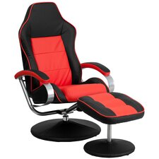 Racer Recliner and Ottoman