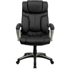 Personalized High-Back Folding Leather Executive Office Chair
