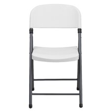 Plastic Folding Chair with Charcoal Frame (Set of 6)