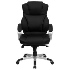 High-Back Contemporary Office Chair with Designer Loop Arms